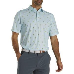 FootJoy Lisle Cocktail Print Golf Polo Ice Blue 26602