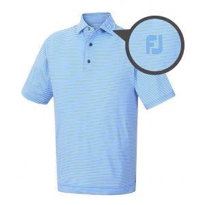 FootJoy Lisle Feeder Stripe Self Collar Golf Polo - 22159 FJ Tour Logo