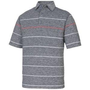 FootJoy Lisle Space Dye Engineered Stripe Self Collar Golf Polo Shirt - 26030