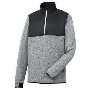FootJoy Mens Sweater Fleece Pullover - Heather Grey 25160