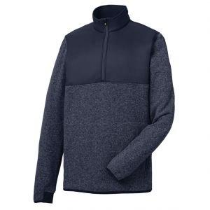 FootJoy Mens Sweater Fleece Pullover - Heather Navy 25161