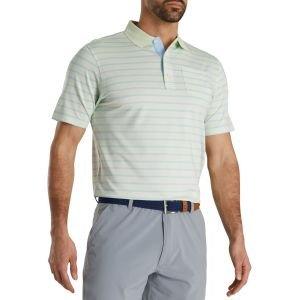 FootJoy Nautical Stripe Lisle Self Collar Golf Polo
