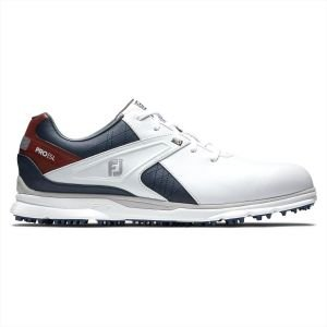 FootJoy Pro/SL Golf Shoes White/Navy/Red 53848