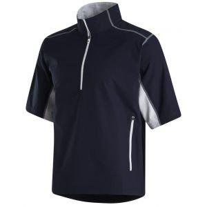 FootJoy Short Sleeve Sport Golf Windshirt Navy/White 32667