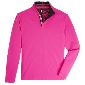 FootJoy Stretch Jersey Quarter-Zip Golf Pullover - Hot Pink - HOT PINK - XXL