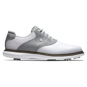 FootJoy Traditions Frosted Collection Golf Shoes 2021 - White/Silver 57916