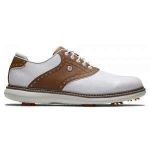 FootJoy Traditions Golf Shoes White/Brown