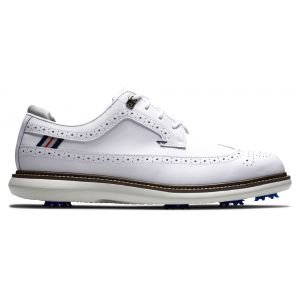 FootJoy Traditions Golf Shoes 2021 - White/Navy/Grey 57910