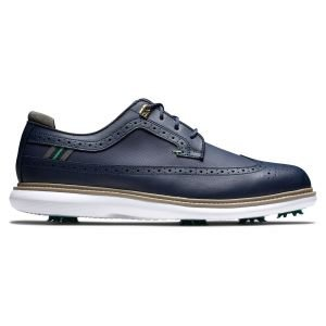 FootJoy Traditions Golf Shoes Navy/Green Sole