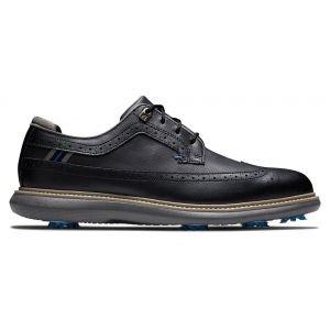 FootJoy Traditions Golf Shoes 2021 - Black/Blue/Grey 57913