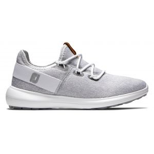 FootJoy Womens Coastal Flex Golf Shoes 2020 - White/Grey 95750