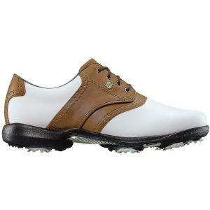 FootJoy Womens Dryjoys Golf Shoes 2020 White/Brown - 99015