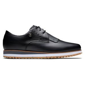 FootJoy Womens FJ Sport Retro Golf Shoes Black/Black