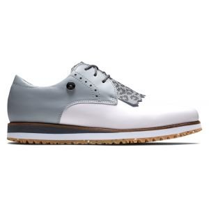 FootJoy Womens FJ Sport Retro Golf Shoes White/Light Grey