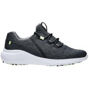 FootJoy Womens Flex Coastal Golf Shoes Black/Lime