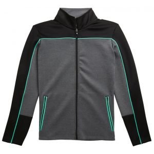 FootJoy Womens Jersey Full-Zip Mid-Layer Golf Jacket - Black/Jade
