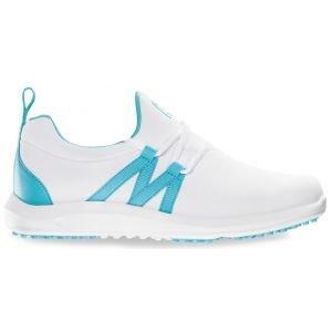 FootJoy Womens Leisure Slip On Golf Shoes White/Bluefish
