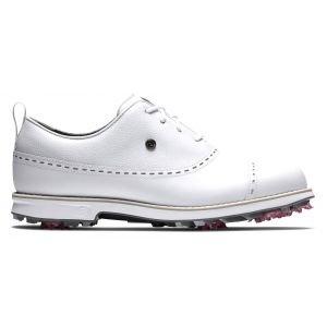FootJoy Womens Dryjoys Premiere Series Golf Shoes White/White Cap Toe