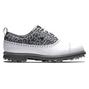 FootJoy Womens Dryjoys Premiere Golf Shoes White/Charcoal/Charcoal