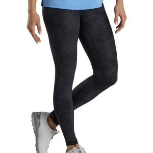 FootJoy Women's Printed Golf Leggings Black