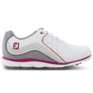FootJoy Womens Pro SL Spikeless Golf Shoes White/Grey/Pink - 98101