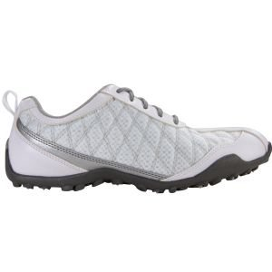 FootJoy Womens Superlites Spikeless Golf Shoes White/Silver 98819 - ON SALE