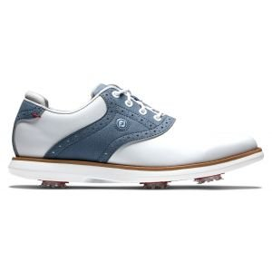 FootJoy Womens Traditions Golf Shoes White/Blue