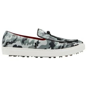 G/Fore Camo Belgian Loafer Golf Shoes Charcoal
