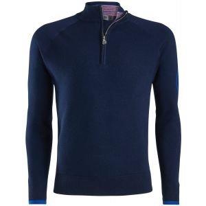 G/FORE Interior Striped Quarter-Zip Golf Sweater