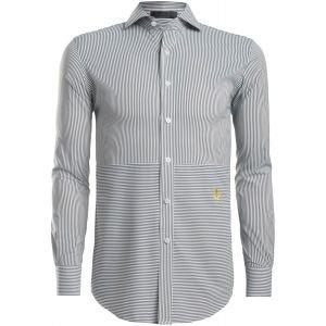 G/FORE Paneled Modern Spread Collar Woven Long Sleeve Button Down Shirt