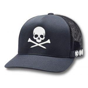 G/FORE Skull & T's Trucker Golf Hat Charcoal