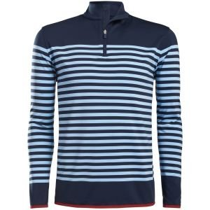 G/FORE Striped Mid Quarter-Zip Golf Pullover