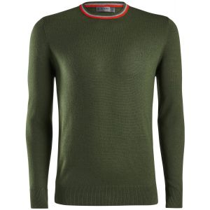 G/FORE Striped Ringer Crewneck Golf Sweater