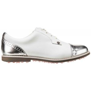 G/Fore Womens Cap Toe Gallivanter Golf Shoes - Snow/Shark Skin