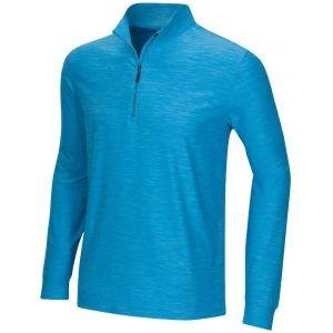 Greg Norman Heathered Comfort Stretch 1/4 Zip Golf Pullover - ON SALE - NAVY HEATHER - XXXL