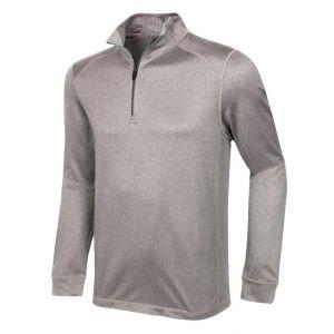 Greg Norman Heathered Herringbone 1/4 Zip Golf Pullover