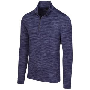 Greg Norman Heathered Mesh Stretch 1/4 Zip Mock Golf Pullover