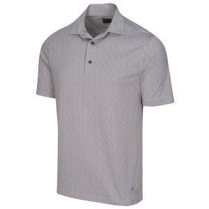 Greg Norman Micro Dot Jacquard Golf Polo - ON SALE