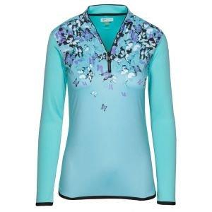 Greg Norman Womens Ml75 1/4 Zip Tulip Collar Golf Pullover