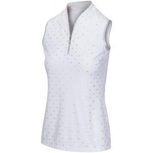Greg Norman Women's ML75 Pebble Sleeveless Zip Golf Polo