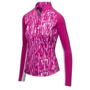 Greg Norman Womens XP 1/4 Zip Geo Prism Mock Golf Pullover