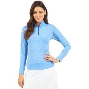 IBKUL Womens Mini Check Long Sleeve Golf Top