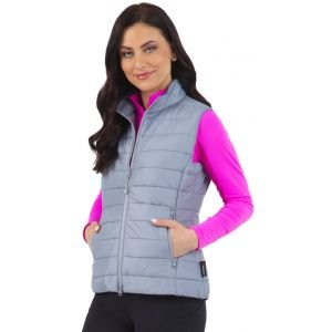 IBKUL Women's Solid Quilted Golf Vest