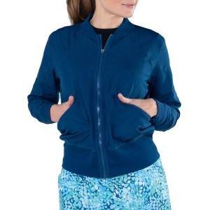 JoFit Women's Mesh Bomber Golf Jacket w/ Rib Trim