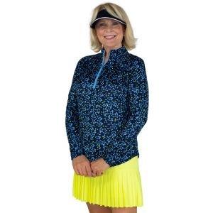 JoFit Women's Printed UV Mock Long Sleeve Golf Top