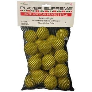 JP Lann Foam Practice Golf Balls 24 Pack Yellow
