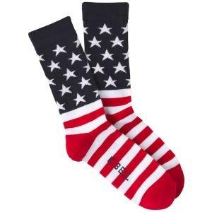 K. Bell Flag Crew Golf Socks