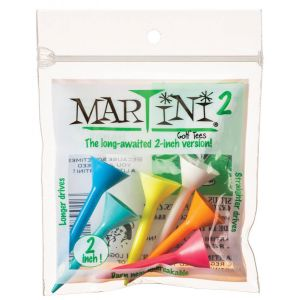 """2"""" Martini Golf Tees 6 Pack Mixed Colors"""
