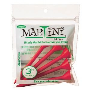 """3 1/4"""" Martini Golf Tees 5 Pack Red"""