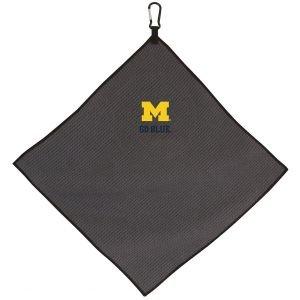 Michigan Wolverines Golf Towel Grey